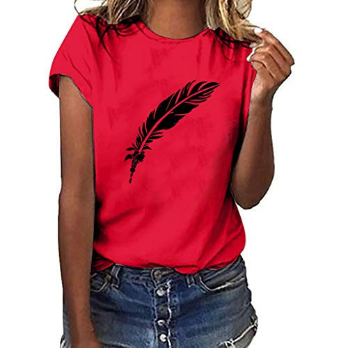 T-Shirts for Women Plus Size Graphic Casual Short Sleeve Tees Summer Teen Girls Blouse Tops