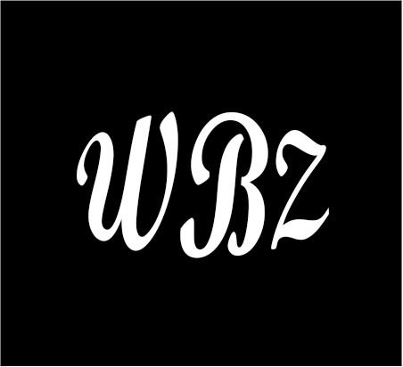 3  White Monogram 3 Letters Wbz Initials Bold Font Script Style Vinyl Decal Great Size For Cups Or Mugs Use On Any Smooth Surface