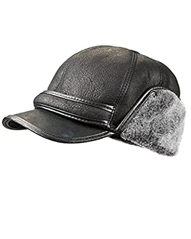 5d4fb6b9a3d frr Shearling Sheepskin Fudd Hat at Amazon Men s Clothing store