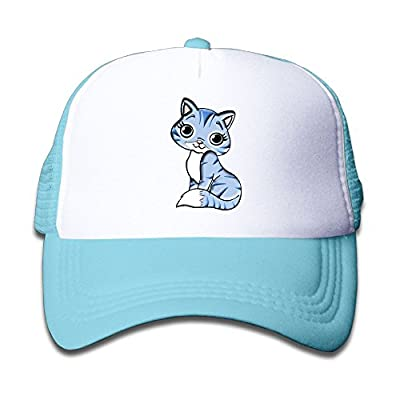 Kkidj Ooii Mesh Baseball Caps Boy&Girls Youth Snapback Hats Kitty Cute