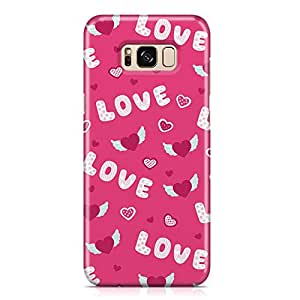 Samsung S8 Case Cute Heart Pattern Gift For Loved Ones, Great For Girls Scratch Resistant Protective Samsung S8 Cover Wrap Around 25