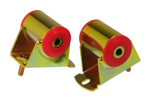 Prothane 1-502 Red 6 Cylinder Motor Mount Kit for Jeep YJ and TJ (2000 Jeep Wrangler 4-0 Engine For Sale)