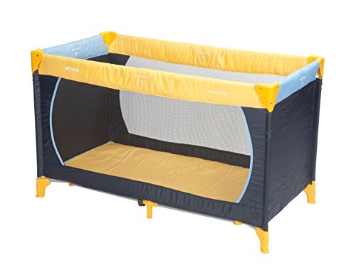 Hauck 604038 Reisebett Dream'n Play 60x120cm, yellow/blue/navy