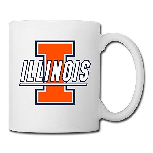 Illinois Monkey (White Illinois Fighting Illini Sab04Fl Ceramic Coffee Mug 11oz Unisex Printed On Both)