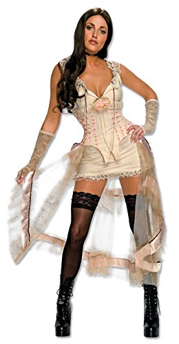 Secret Wishes Jonah Hex Sexy Lilah Costume, Cream, X-Small - Jonah Hex Halloween Costumes