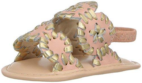 Jack Rogers Girls' Baby Lauren Sandal, Blush Gold, 3 M US Infant