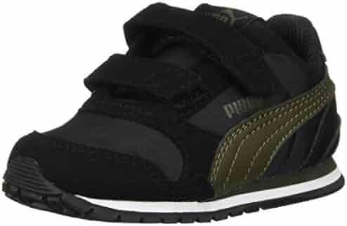 Puma Unisex-Kids St Runner NL Sneaker, Rock Ridge White, 13 US Little Kid