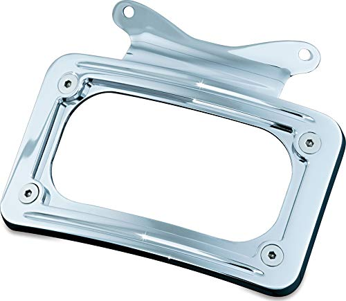 Kuryakyn 3157 Motorcycle Accessory: Curved License Plate Mount for 2010-19 Harley-Davidson Motorcycles, Chrome