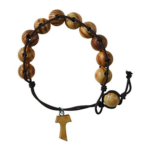 Olive Prayer Adjustable Rosary Bracelet product image