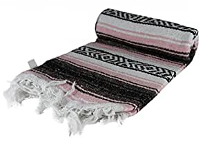 Authentic Mexican Yoga Falsa Blanket (Pink)