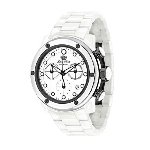 Glam Rock Women's Aquarock 42mm White Ceramic Band & Case Swiss Quartz Analog Watch GR50107F