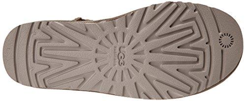 Ugg Ugg W Classic Short In Pelle Da Donna Mezza Albero Slip Boots Grigio (fea)