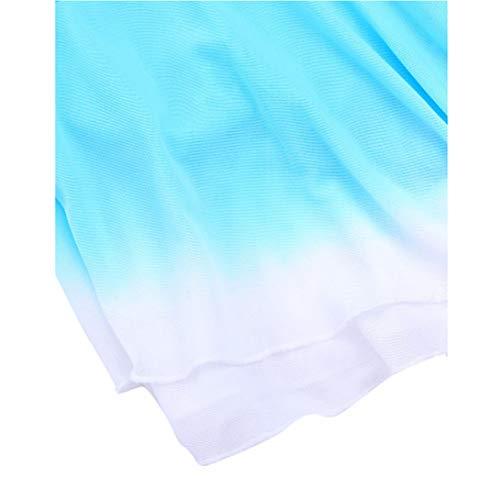 De 155 Robe Spandex Patinage Porter Femmes La Hongsheng Sans Mode À Sur Glace Main Compétition Manches IqFCRw