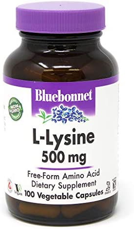 Bluebonnet L-Lysine 500 Mg Vitamin Capsules, 100Count