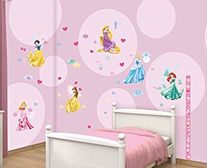 Disney Princess Walltastic Room Decor Kits Multi Colour Amazon Co Uk Kitchen Home