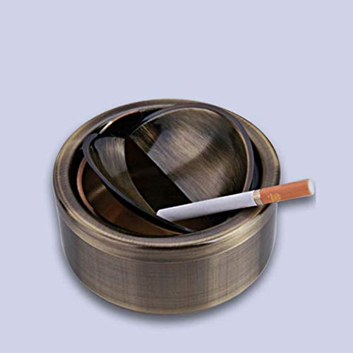 LTM Ashtray, High-Grade Windproof Cover Stainless Steel Ashtray Automatic Switch Type Ashtray (Color : 2) -