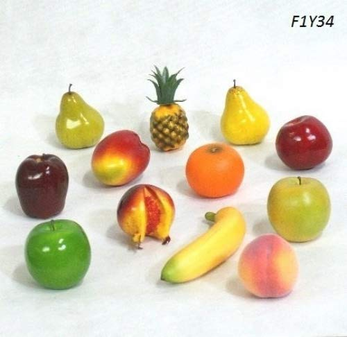 12-pc fake artificial fruit mixed , F1Y34