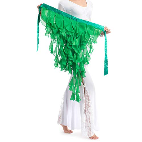 BellyLady Wholesale Belly Dance Hip Scarf, Festival Performance Outfits Skirt-1pc-Green -