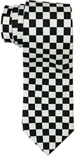 Black and White Checkered Skinny Tie