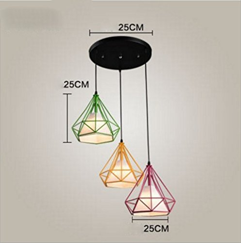 YXWdt chandeliers Personality Retro Industrial Light Iron American Diamond Carpet Single Bar Bar Restaurant Bar New Chinese Creative Chandelier (Efficiency:A+) (Color : E)