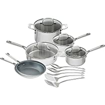 Emeril Lagasse 15-Piece Stainless-Steel Cookware Set Nonstick Fry Pans + AD29950