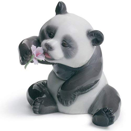 Lladro A Cheerful Panda Porcelain Figurine