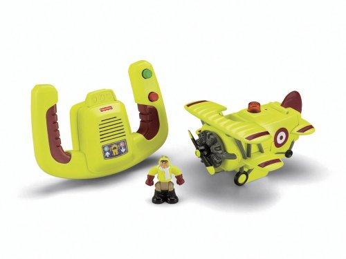 (Fisher-Price Transportation System Remote Control Bi-Plane with Loopy Loco & Darren)