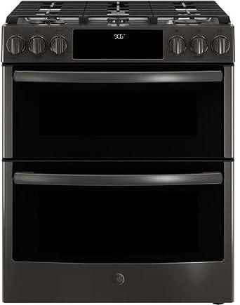 ge profile pgs960belts 30 inch slidein gas range with sealed burner cooktop in black