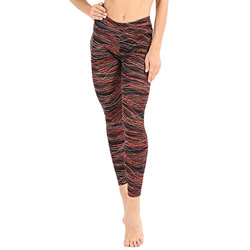 e011157c41 Yoga Pants for Women CJing Leggings,Ladies'Line Printing Exercise Fitness  Running Body-