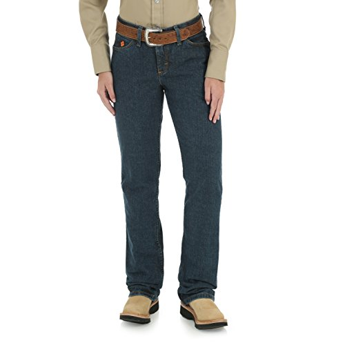 Wrangler Women's Flame Resistant Western Midrise Boot Cut Jean, Crosshatch, 5x32 ()