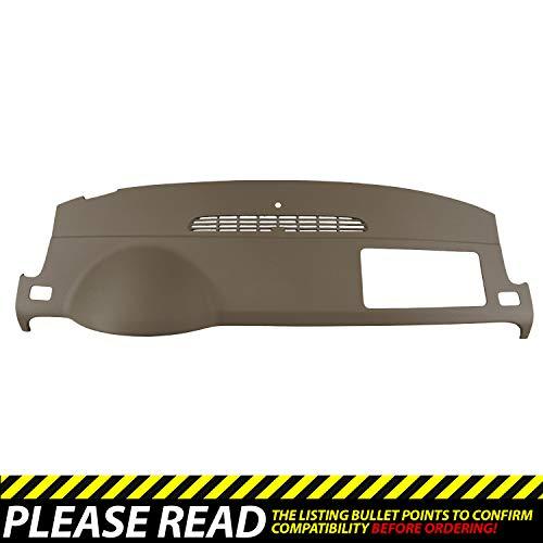 (DashSkin Molded Dash Cover Compatible with 07-14 GM SUVs w/o Dash Speaker in Cashmere)