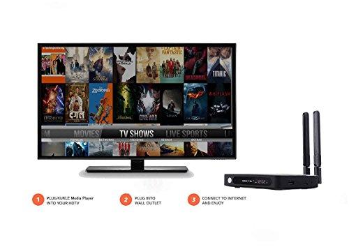 KUKELE A93 Android Streaming Media Player 2GB/16GB TV Box 4K UHD Ready to Stream Media Center with KU Updator Wireless Keyboard by KUKELE (Image #1)