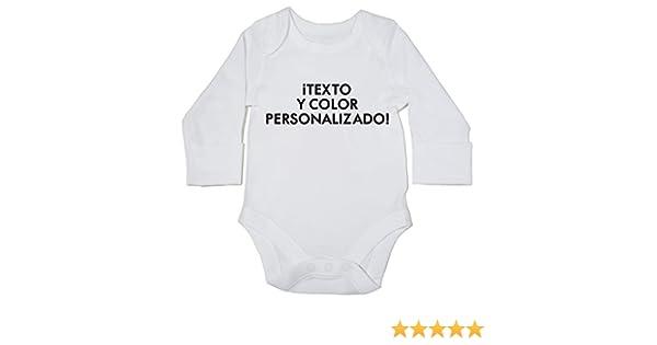 fc58c385c HippoWarehouse Texto y color personalizado body manga larga bodys pijama  niños niñas unisex  Amazon.