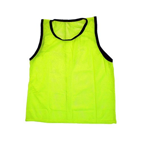 (Scrimmage Training Vests Soccer Bibs Adult Set of 12 (Yellow))