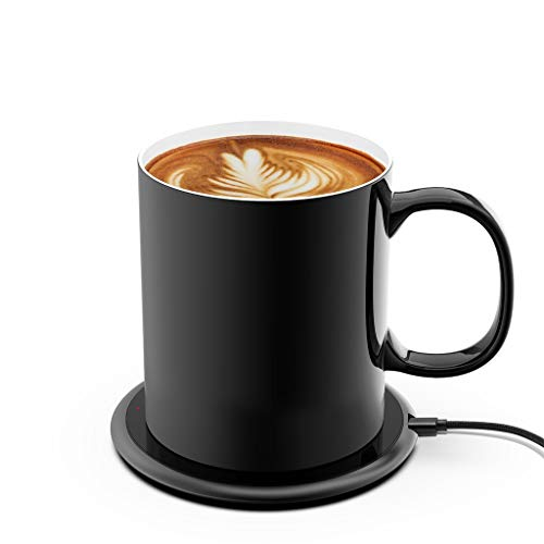 iwoxs Coffee Cup Warmer Coffee Warmer For Desk,Intelligent Temperature Control 131°F/55°C Coffee Cup Warmer Set(Used to keep the coffee temperature)