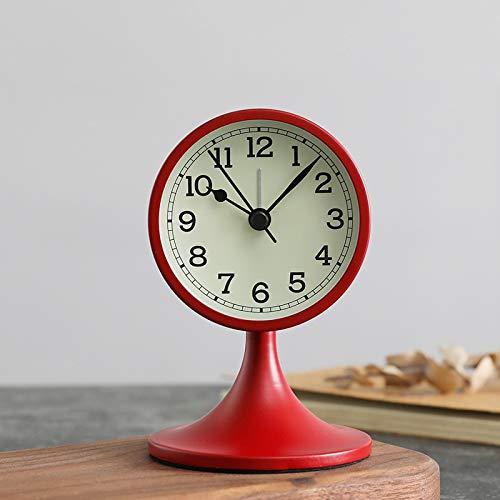 sadenhuangzhangyi Silencioso Relojes de Alarma de Metal Moderno ...