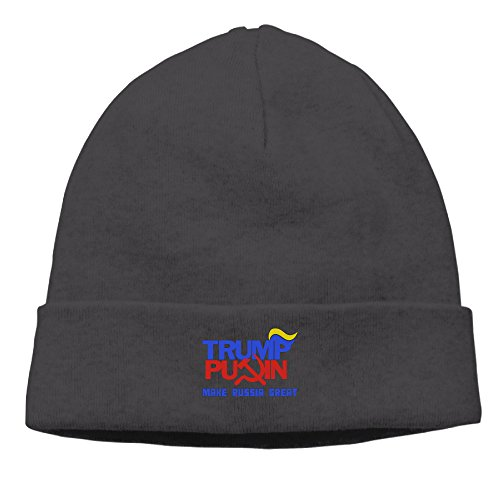 APOERN Trump Putin 2016 - Make Russia Great Again Stretchy Casual Black Skull Hat Beanies Cap