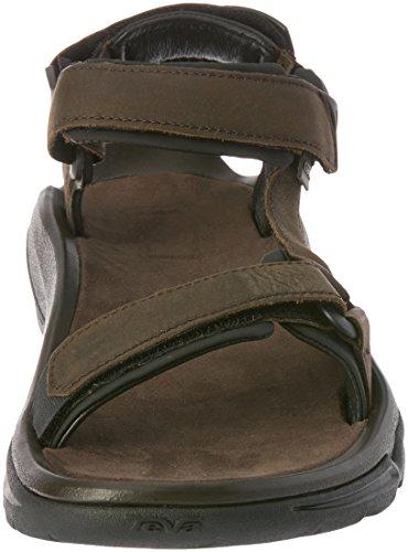 Teva Men's Terra Fi 4 Leather Sports and Outdoor Hiking Sandal Brown 5QS2U