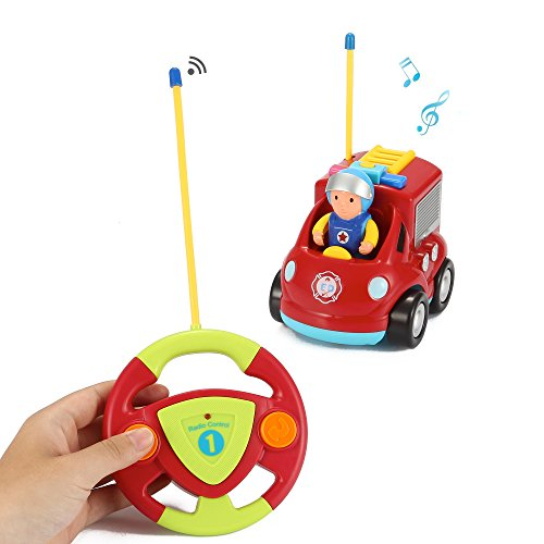 Liberty Imports My First RC Cartoon Car Vehicle 2-Channel Remote Control Toy -...