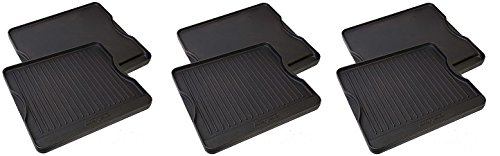 Camp Chef CGG16B Reversible Pre-Seasoned Cast Iron Grill/Griddle (3-Pack) by Camp Chef