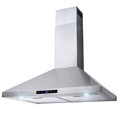 AKDY 30'' Wall Mount Stainless Steel Touch Control Kitchen Range Hood Cooking Fan by AKDY (Image #3)