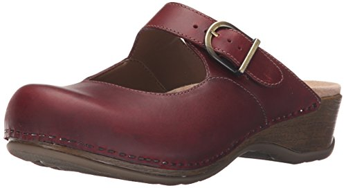 Dansko Women's Martina Mule, Red Oiled, 40 EU/9.5-10 M US by Dansko