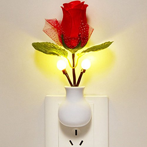DUOMI LED Rose Night Lamp Home Decoration LED Wall Lamp for bedroom ...