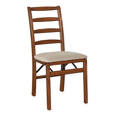 Stakmore Shaker Ladderback Wood Folding Chairs in Cherry (Set of 2) by Stakmore