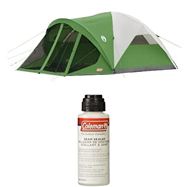 Coleman Evanston 6-Person Dome Tent with Screen Room with Seam Sealer, 2-oz