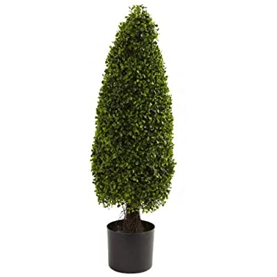 Wholesale 3Ft Boxwood Tower Topiary UV Resistant Indoor/Outdoor) , [Decor, Silk Flowers]