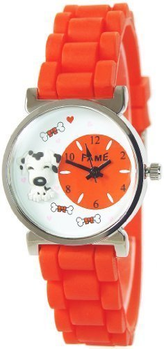 Reloj De Pulsera Infantil Rojo Blanco analógico 3d perro hueso metal silicona Joven Chica Reloj: Amazon.es: Relojes