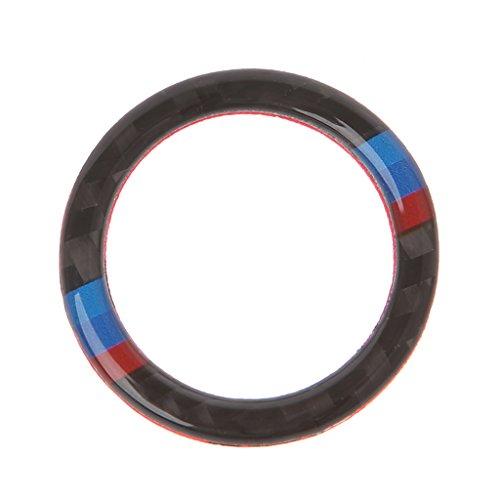 (Xumeili Carbon Fiber Key Start Button Ring Decor Trim For BMW 3 Series E90 / E92 / E93)