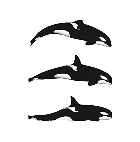 Killer Needle (VROSELV Custom Blanket Sea Animals Three Orca Killer Whalesin Different Illustration Black And White Bedroom Living Room Dorm)