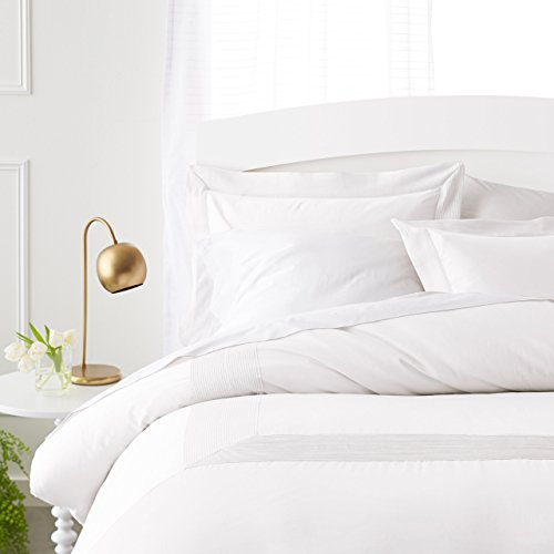 Pinzon 400-Thread-Count Egyptian Cotton Sateen Duvet And Sham Set - Full or Queen, Cloud (Sateen Shams Cotton)